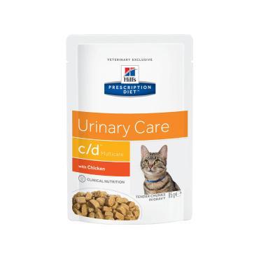 Корм консервированный для кошек c/d Multicare с курицей, Hill's Prescription Diet, 85 гр., пластиковый пакет