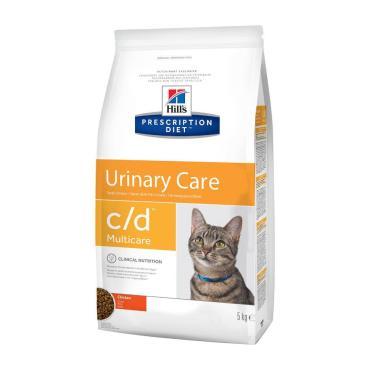 Корм сухой для кошек c/d, Hill's Prescription Diet, 5 кг., пластиковый пакет