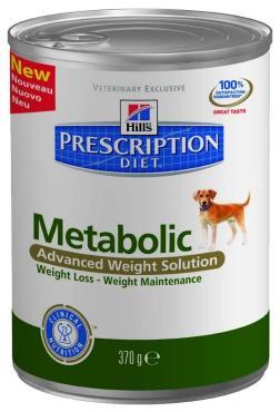 Корм консервированный для собак Metabolic, Hill's Prescription Diet, 370 гр., жестяная банка