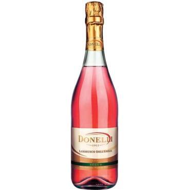 Вино игристое жемчужное розовое полусладкое Giacobazzi Donelli Lambrusco dell'Emilia rose, 7,5 %, Италия, 750 мл., стекло