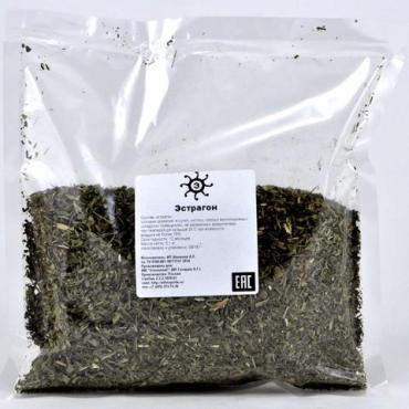 Эстрагон (тархун) сушеный резаный, 100 гр., пластиковый пакет