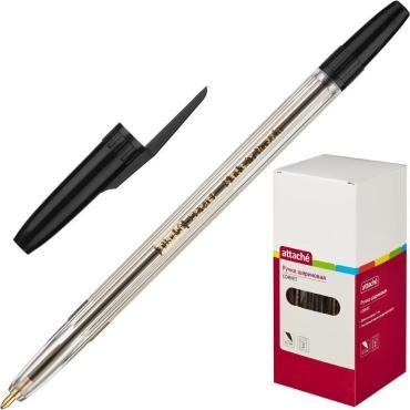 Ручка шариковая Attache Corvet черная, 0,7мм