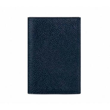 Обложка для паспорта Attache нат.кожа синий О.1.ВК