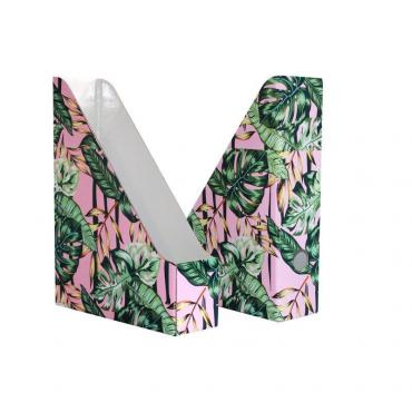 Вертикальный накопитель Attache Selection Flamingo 75мм 2шт/уп Jungle с диз
