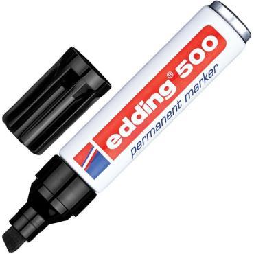 Маркер перманентный EDDING E-500/1 черный 2-7мм скошенный наконеч.