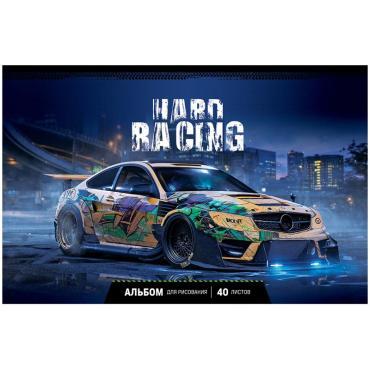 Альбом для рисования 40л., А4, на скрепке ArtSpace Авто. Hard racing