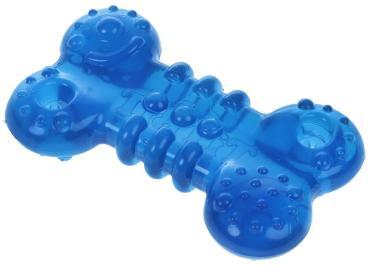 Игрушка для собак жевательная Косточка, длина 10 см., цвет синий, 65 гр.