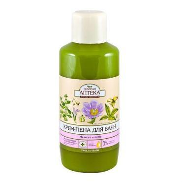 Пена для ванн, мелисса и пион Зеленая Аптека, 1 л., пластиковая бутылка