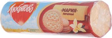 Печенье традиционное, затяжное Мария,  Любятово, 180 гр., обертка фольга/бумага