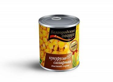 Кукуруза сахарная ГОСТ Белгородские овощи, 400 гр., жестяная банка