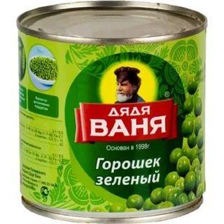 Зеленый горошек Дядя Ваня, 400 гр., жестяная банка