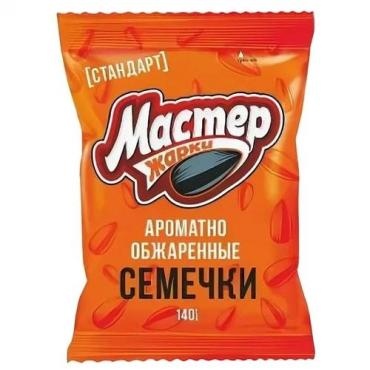Семена подсолнечника жаренные, Мастер Жарки, 140 гр., флоу-пак