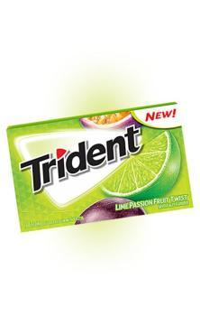 Жевательная резинка Trident Lime Passionfruit Twist, картонная пачка