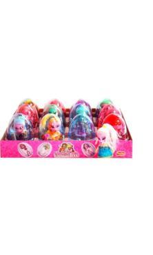 Яйцо с карамелью и игрушкой Monster girl 6 гр., пластиковая упаковка