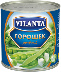 Горошек VILANTA зеленый Молд , 400 гр, ж/б