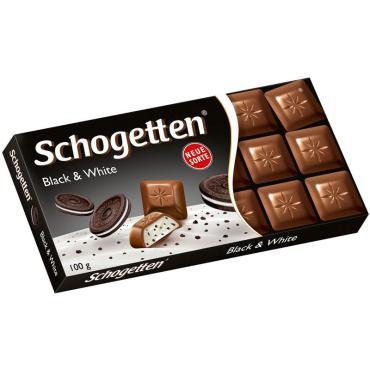 Шоколадная плитка Schgotten Black&White 100 гр., картонная пачка