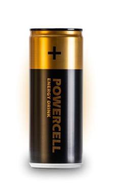 Напиток энергетический Powercell 250 мл., ж/б