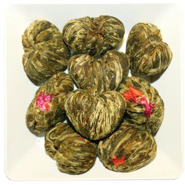 Чай связанный с цветами лотоса ZellWell Сердце Дракона, 100 гр., пакет из триплекса