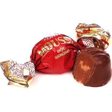 Конфеты вкус шоколад Konti Mousse, 1 кг., пластиковый пакет