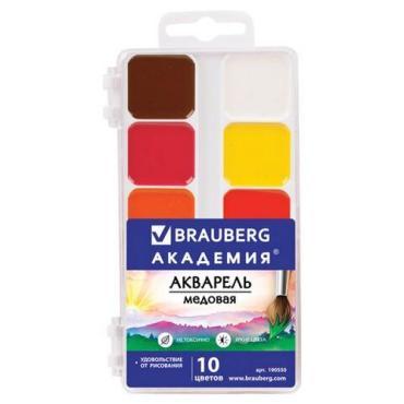 Краски акварельные медовые, 10 цветов Brauberg