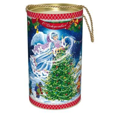 Новогодний подарок Рождество Красный Октябрь 800 гр., жестяная банка