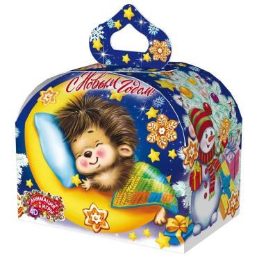 Новогодний подарок Сундучок сон в Новый год Красный Октябрь 800 гр., картонная коробка