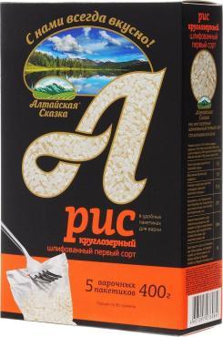 Рис круглозерный Алтайская сказка 400 гр., картонная коробка