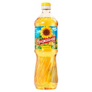 Масло подсолнечное рафинированное дезодорированное Горница Урожайное, 870 мл., пластиковая бутылка