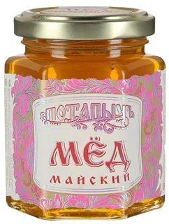 Мёд натуральный майский Потапыч, 250 гр., стекло