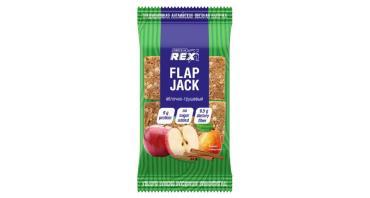 Печенье яблочно-грушевое овсяное протеиновое, Флэпджек, Protein Rex, 60 гр., флоу-пак