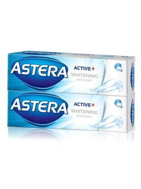 Зубная паста Active+ Отбеливающая 100 мл*2, Болгария, Astera, 200 мл., туба