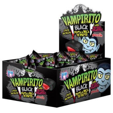 Жевательная резинка (красящая язык) Vampirito Blak, 3,5 гр., сашет