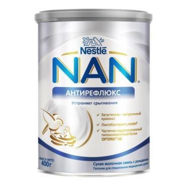 Смесь сухая антирефлюкс, NAN, 400 гр., ж/б