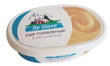 Сыр ЛеШале  плавленый классический 60%, 125 гр., контейнер