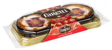 Пирожное Faretti клубничное 130 гр