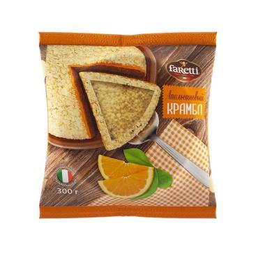 Бисквит апельсиновый Faretti, 300 гр., флоу-пак