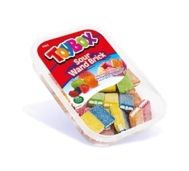 Жевательный мармелад Кислые бруски, Toybox, 250 гр., пэт