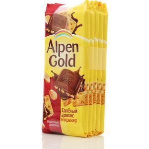 Шоколад Alpen Gold молочный с соленым арахисом и крекером