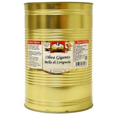 Оливки зеленые в рассоле, Bella Contadina, 4,3 кг., ж/б