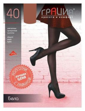 Колготки 40 den XL черный, 6 размер, Грация Бела, картон