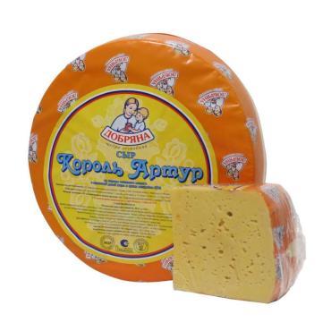 Сыр 50% Добряна Золото Артура 1 кг., оболочка