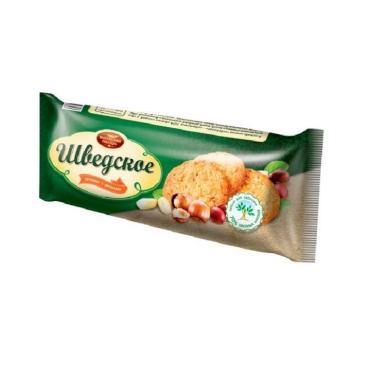 Печенье с орехом Шведское,Волжский Пекарь, 250 гр., флоу-пак