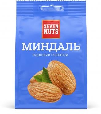 Миндаль жареный соленый Seven Nuts 500 гр., флоу-пак