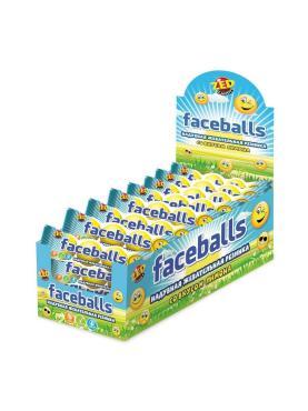 Жевательная резинка Конфитой Faceballs с принтом, 17 гр., флоу-пак