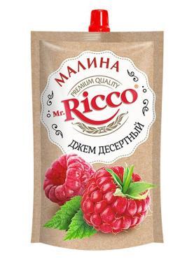 Джем десертный малина Mr. Ricco, 300 гр., дой-пак с дозатором