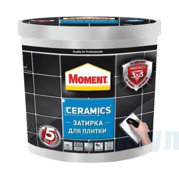 Затирка для межплиточных швов серый Moment Ceramics 1 кг., пластиковое ведро