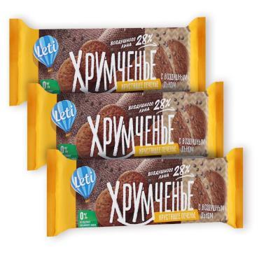 Печенье Хрумченье с воздушным льном,Leti, 120 гр., флоу-пак