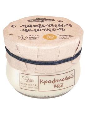 Мед натуральный крафтовый пчел.маточн.молоч, Брестов А.С., 260 гр., стекло