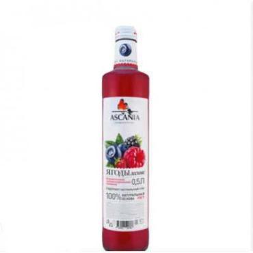 Напиток газированный, Лесные ягоды, Ascania, 500 мл., стекло