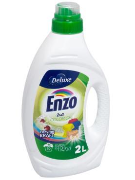 Средство для стирки жидкое для темных тканей Enzo delux color, 2 л., ПЭТ